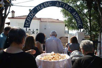 Ο Μέγας Πανηγυρικός Εσπερινός στην Κοζάνη για την Κοίμηση της Αγίας Άννας